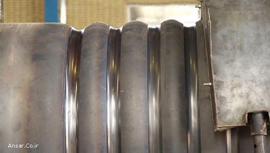 کوره کوروگیت یا آکاردئونی تولید شده در شرکت انصار