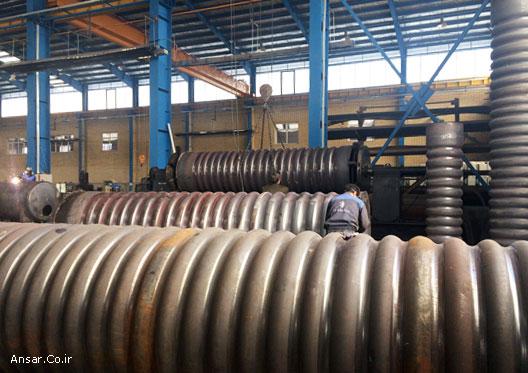 خط تولید کوره های کاروگیت دیگ های بخار 15 تن و 10 تن در گروه صنعتی انصار