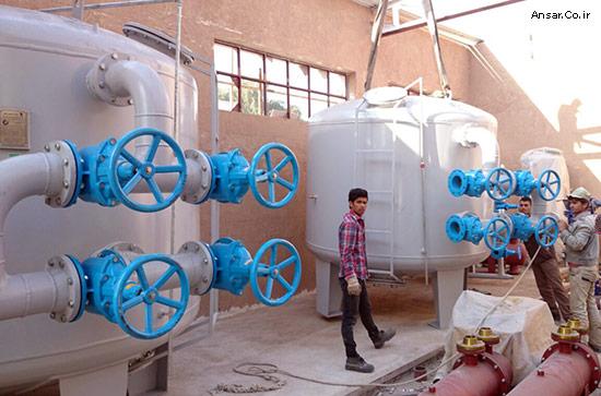 فیلتر شنی به قطر 2/5 متر ساخت شرکت انصار جهت استخر بانک ملی اهواز