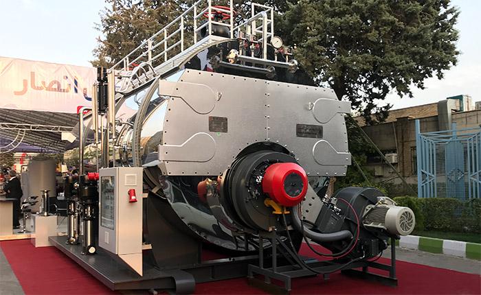 دیگ بخار 12 تن انصار جهت کارخانه کاغذسازی زرین