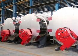 کارخانه گروه صنعتی انصار - دیگ های آبگرم آماده تحویل