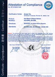 دیگ بخار و آبگرم با استاندارد CE اروپا
